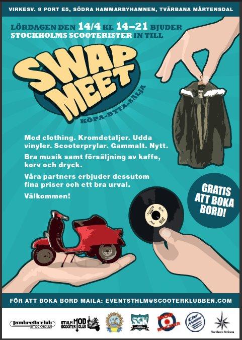Stockholms Scooterister bjuder in till Swapmeet.